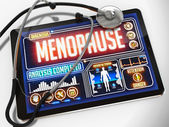 Menopause on the Display of Medical Tablet. — Stock Photo
