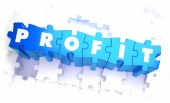Profit - Word in Blue Color on Volume  Puzzle. — Stock Photo