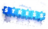 Stress - Word in Blue Color on Volume  Puzzle. — Stock Photo