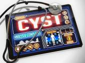 Cyst on the Display of Medical Tablet. — Stock Photo