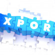 Export - Word in Blue Color on Volume  Puzzle. — Stock Photo #66858117