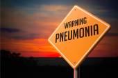 Pneumonia on Warning Road Sign. — Stock Photo