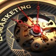 E-Marketing on Black-Golden Watch Face. — Stock Photo #67072417