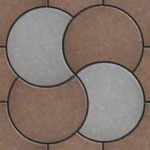 Brown and Gray Pavement  in the Form of a Circle. — Stock Photo