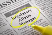 Regulatory Affairs Manager Jobs in Newspaper. — Stock Photo
