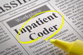 Inpatient Coder Vacancy in Newspaper. — Stock Photo