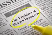 Vice President of Human Resources Vacancy in Newspaper. — Stock Photo