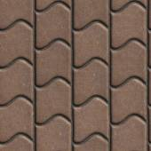 Brown Paving Slabs of the Wavy Form. — Stock Photo