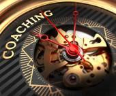 Coaching on Black-Golden Watch Face. — Stock Photo