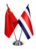 China and Costa Rica - Miniature Flags. — Stock Photo