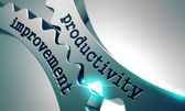 Productivity Improvement on Metal Gears. — Stock Photo