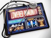 Lowered Immunity on the Display of Medical Tablet. — Stock Photo