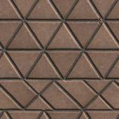 Brown Pave Slabs in the Form of Triangles and Other Geometric Shapes. — Stock Photo