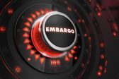 Embargo Regulator on Black Console. — Stock Photo