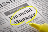 Financial Manager Jobs in Newspaper. — Stock Photo