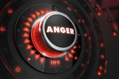 Anger Controller on Black Console. — Stock Photo