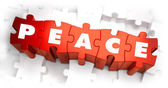 Peace - Text on Red Puzzles. — Stock Photo