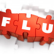 Flu - Text on Red Puzzles. — Stock Photo #69133437
