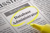 Database Administrator Jobs in Newspaper. — Stock Photo