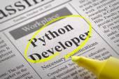 Python Developer Vacancy in Newspaper. — Fotografia Stock