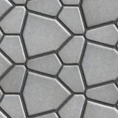 Brown Paving Slabs in the Form Polygons of Different Value. — Stock Photo