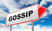 Gossip on Red Road Sign. — Stock Photo