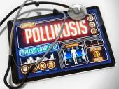 Pollinosis on the Display of Medical Tablet. — Stock Photo
