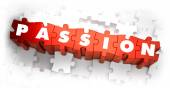 Passion - White Word on Red Puzzles. — Stock Photo