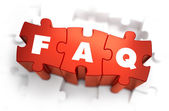 FAQ - Text on Red Puzzles. — Stock Photo