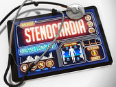 Stenocardia on the Display of Medical Tablet. — Fotografia Stock
