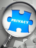 Privacy through Lens on Missing Puzzle. — Stock Photo