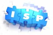 ISP - Text on Blue Puzzles. — Stock Photo