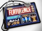 Flatulence on the Display of Medical Tablet. — Fotografia Stock