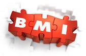 BMI - White Abbreviation on Red Puzzles. — Stock Photo