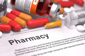 Pharmacy - Medical Concept. Composition of Medicaments. — Stock Photo