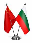 China and Bulgaria - Miniature Flags. — Stock Photo