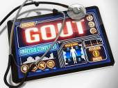 Gout on the Display of Medical Tablet. — Stock Photo