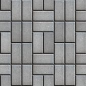 Gray Pave Slabs Rectangles Laid out in a Chaotic Manner. — Stock Photo