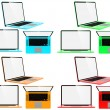 Set of Color Modern Laptops. — Stock Photo #73041097