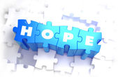 Hope - White Word on Blue Puzzles. — Stock fotografie