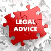 Legal Advice on Red Puzzle. — Stock Photo