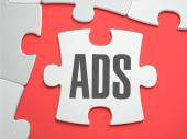 Ads - Puzzle on the Place of Missing Pieces. — Stock Photo