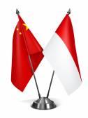 China and Monaco - Miniature Flags. — Stockfoto