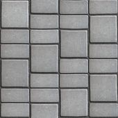 Gray Paving Slabs that Mimic Natural Stone. — Stock Photo