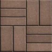 Brown Pave Slabs Rectangles Arranged Perpendicular to Each other Two or Three Pieces. — Stock Photo