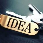 Idea written on Golden Keyring. — Stock Photo #73516427