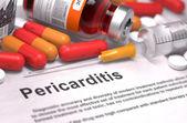 Diagnosis - Pericarditis. Medical Concept. — Stock Photo