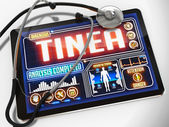 Tinea on the Display of Medical Tablet. — Stock Photo