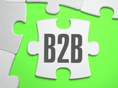 B2B - Jigsaw Puzzle with Missing Pieces. — Stock Photo