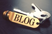 Blog written on Golden Keyring. — Stock Photo